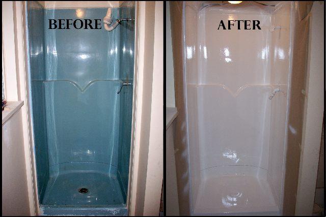 Fiberglass Shower Surrounds and Pans – Advanced Refinishing